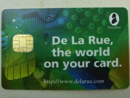 Carte A Puce - Carte De Salon - DeLaRue - The World On Your Card - France