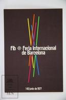 Vintage 1977 FIB International Fair Of Barcelona - Commemorative Advertising Postcard - Exposiciones