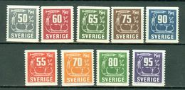 Sverige 1954, 1957/64 Yv. 389/393**, 424/426A**  MNH Cote Yv. € 15,50 - Neufs