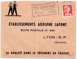 MARNE - Dépt N° 51 = CHALONS S/ MARNE GARE  1959 = FLAMME Non Codée = SECAP Illustrée De MERCURE  'FOIRE EXPOSITION ' - Marcofilia (sobres)