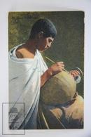 Old Ethnic Postcard - June Artiste Arabe/ Young Arab Artist Painting A Vase - Lehnert & Landrok Editors - África