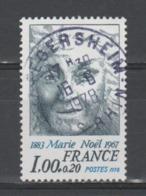 """FRANCE / 1978 / Y&T N° 1986 : """"Célébrités"""" (Marie Noël) - Oblitération Du 16/06/1978. SUPERBE ! - Frankrijk"""