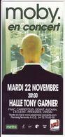 - Flyer - Moby - Halle Tony Garnier - - Music & Instruments