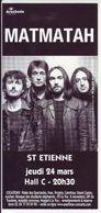 - Flyer - Matmatah - Hall C De St Etienne - - Musique & Instruments