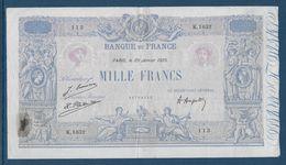 France 1000 Francs Bleu Et Rose - 20-1-1925 - Fayette N°36-41 - TB/TTB - 1871-1952 Circulated During XXth