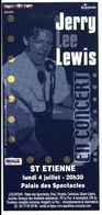 - Flyer - Jerry Lee Lewis - Palais Des Spectacles De St Etienne - - Musique & Instruments