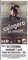 - Flyer - Calogero - Palais Des Spectacles De St Etienne - - Music & Instruments