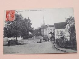Cézy - Place De La République Et Vieille Porte ( 782 Hamelin ) Anno 1912 ( Voir Photo Svp ) ! - Auxerre