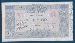France 1000 Francs Bleu Et Rose - 17-4-1925 - Fayette N°36-41 - TB/TTB - 1871-1952 Circulated During XXth