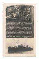 INCROCIATORE:  R.N. OFFICINA  QUARNARO  -  DEDICA  -  FOTO  -  FP - Warships