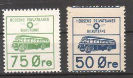Denmark Local Railway Parcel. Horsens. 2 Bus Tickets  ./Railways/Eisenbahnmarke - Trains