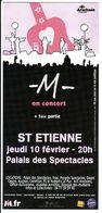 - Flyer - M - Palais Des Spectacles De St Etienne - - Musique & Instruments