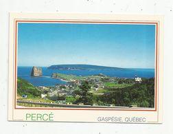 Cp , CANADA , QUEBEC , PERCE , GASPESIE ,  Voyagée - Percé