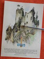 Koh I Noor - Crayon : Ruine - 1949 - Switzerland