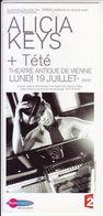 - Flyer - Alicia Keys - Théatre Antique De Vienne - - Music & Instruments