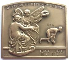 Médaille. Sport.P Our L'amélioration Des Records Belges D'athlétisme.  La Dernière Heure. E. Michel. 65x55mm - 106 Gr - Professionals / Firms