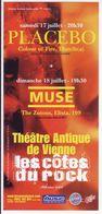 - Flyer - Placebo. Muse - Théatre Antique De Vienne - - Musique & Instruments