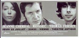 - Flyer - Jeanne Cherhal. Miossec. Thomas Fersen - Théatre Antique De Vienne - - Musique & Instruments