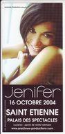 - Flyer - Jenifer - Palais Des Spectacles De St Etienne - - Musique & Instruments