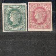 Cuba1866:Lot WithEdifil15,16(mng*) Cat.Value$26 - Cuba (1874-1898)