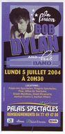 - Flyer - Bob Dylan - Palais Des Spectacles De St Etienne - - Musique & Instruments