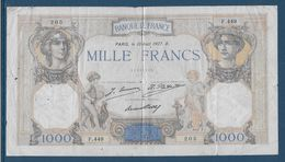 France 1000 Francs Cérès Et Mercure - 10-8-1927 - Fayette N°37-1 - TB - 1871-1952 Circulated During XXth