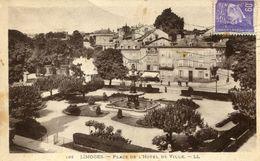 Limoges Place De L'hotel De Ville Circulee En 1942 - Limoges