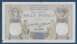 France 1000 Francs Cérès Et Mercure - 9-7-1931 - Fayette N°37-6 - TB - 1871-1952 Circulated During XXth