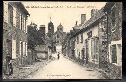 SAINT AUBIN DU CORMIER 35 - La Rue De La Garenne Et L'Eglise - France