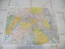 Carte Topographiques De Paris 20 Arrondissement Et 80 Quartiers & Banlieue Parisienne.Par A. Leconte Années 1975/80 - Cartes Topographiques