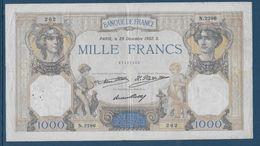 France 1000 Francs Cérès Et Mercure - 29-12-1932 - Fayette N°37-7 - TB/TTB - 1871-1952 Circulated During XXth
