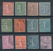 Semeuse - Petit Lot De 12 Timbres - 1903-60 Sower - Ligned