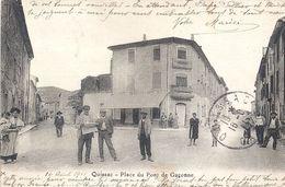 QUISSAC PLACE DU PONT DE LA GARONNE 1911 - Quissac
