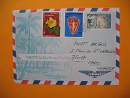 Polynésie Française Année 1978   Voyagé Par Avion De Papeete Tahiti Pour La France - Polynésie Française
