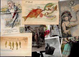 Lot 1150 De 10 CPA Poisson D'avril Premier Avril Fantaisies Déstockage Pour Revendeurs Ou Collectionneurs - Postcards
