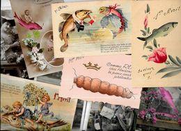 Lot 1151 De 10 CPA Poisson D'avril Premier Avril Fantaisies Déstockage Pour Revendeurs Ou Collectionneurs - Cartoline