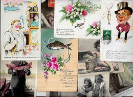 Lot 1152 De 10 CPA Poisson D'avril Premier Avril Fantaisies Déstockage Pour Revendeurs Ou Collectionneurs - Cartes Postales