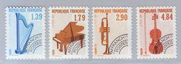 FRANCE 1989 - Préoblitérés Y&T N° 202/205 - Les Instruments De Musique - Neuf ** - Préoblitérés