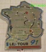 CYCLISME LE TOUR 91   CARTE De FRANCE - Cycling