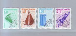 FRANCE 1990 - Préoblitérés Y&T N° 206/209 - Les Instruments De Musique - Neuf ** - Préoblitérés