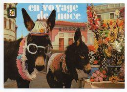 """HOSSEGOR--1973--Fantaisie """"Voyage De Noce à Hossegor"""" (ânes)---cachet Hossegor-40,  Pas Très Courante - Hossegor"""