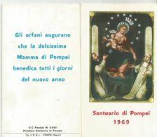 CALENDARIETTO SANTUARIO DI POMPEI 1969 - Calendari