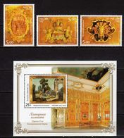 """Russia 2004 Amber Room. The State Museum """"Tsarskoje Selo"""".Florentine Mosaic """"Touch And Smell"""".stamps And S/S.MNH - 1992-.... Federation"""