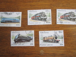 189      LAOS   5  TRAINS - Trains