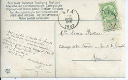 Fantasiekaart Met OCB 56 - Afstempeling BOVIGNY - COBA 8 - 1893-1907 Wapenschild