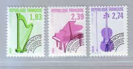 FRANCE 1990 - Préoblitérés Y&T N° 210/212 - Les Instruments De Musique - Neuf ** - Préoblitérés