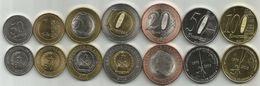 Angola 2012-2015. Complete Coin Set UNC - Angola