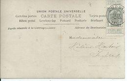 Fantasiekaart Met OCB 81 - Afstempeling AMPSIN - COBA 8 - 1893-1907 Wapenschild