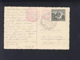 Dt. Reich Österreich AK Nebelhorn-Bahn 1940 Sonderstempel Hirschegg - Briefe U. Dokumente