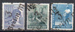 SBZ 1948: 3 Ungebr. Bez.-Aufdr.-Marken Aus Bez. 3, Siehe Scan U. Beschreibung - Zone Soviétique